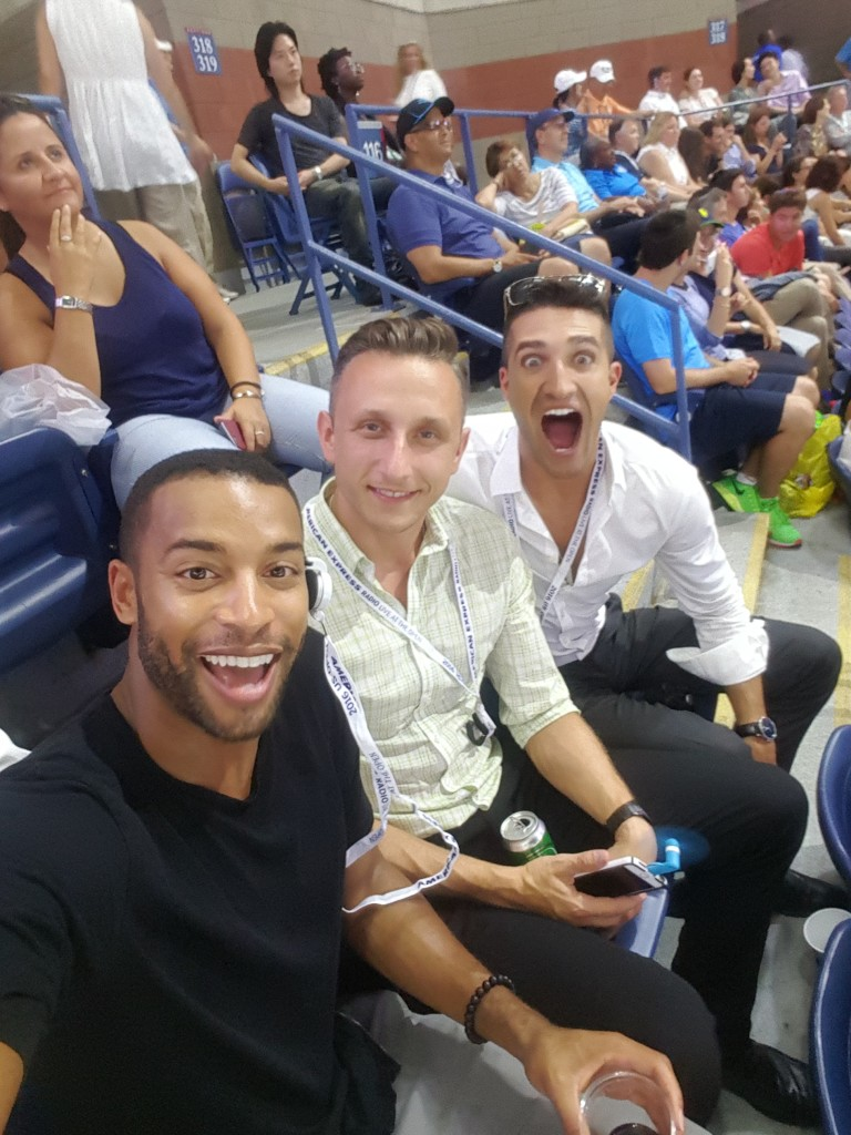 Hanging with my boys at my first U.S. Open. Watched Serena's match.